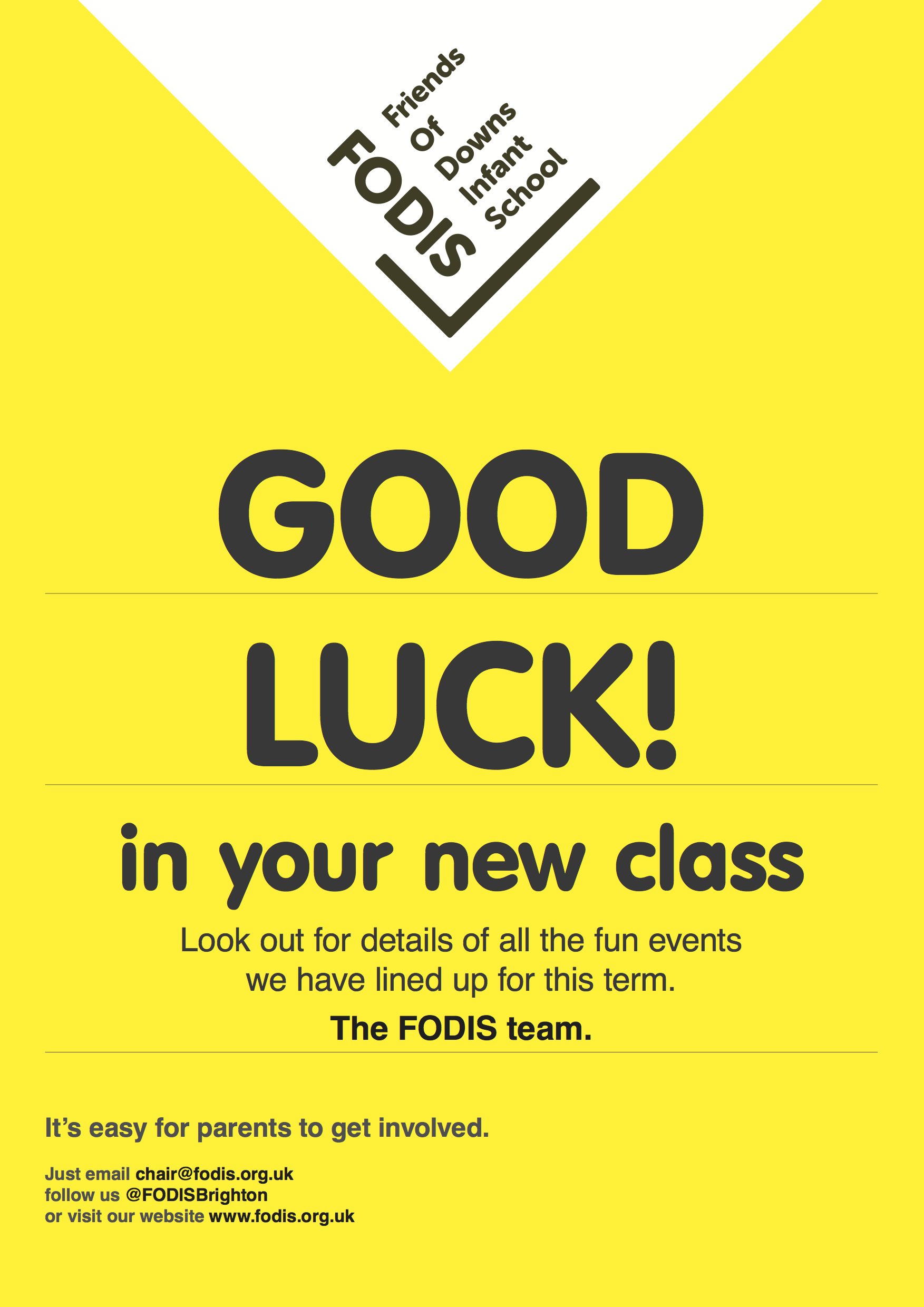 FODIS Web site 2014/15. Good luck in your new class, and welcome ...